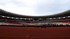 Gelora Bung Karno Stadium. Jakarta, Indonesia - January 26, 2018: Gelora Bung Karno GBK Stadium. Football stadium in Central Jakarta was opened in 1962 Stock Photos