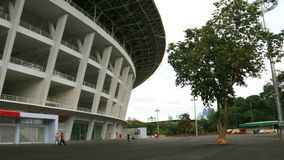 Gelora Bung Karno Stadium. Jakarta, Indonesia - January 26, 2018: Gelora Bung Karno Main Stadium. A multi-purpose stadium located at the center of the Gelora Stock Image