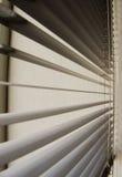 Gelosia di plastica ad una finestra Immagini Stock