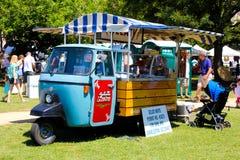 Geloti Moto, Charleston, SC. The Geloti Moto vehicle serving up gelato in Marion Square, Charleston, SC Stock Image