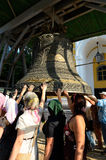 Gelovig bij Grote Klok in Kiev-Pechersk Lavra, Kiev Stock Foto