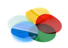 Gels de filtre de couleur image stock