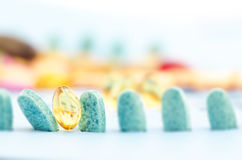 GELS AND PILLS Stock Photography