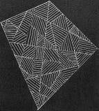 Gelschreiberzeichnung des Feldes der Linien Lizenzfreie Stockbilder