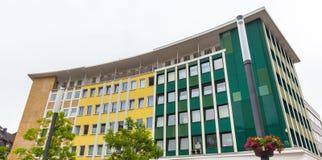 Gelsenkirchen Tyskland cityscape Arkivfoto