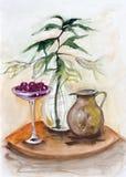 Gelsomino e ciliegia Fotografia Stock