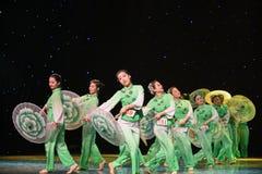Gelsomino nella danza popolare di pittura-cinese del lavaggio e dell'inchiostro Immagine Stock