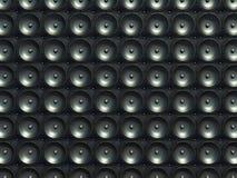 Geluid en stereo-installatie: zwarte sprekers over leerpatroon stock illustratie