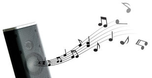 Geluid van Muziek Stock Afbeelding