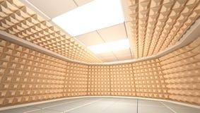 Geluiddichte ruimte Stock Foto