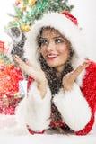 Geluk in de sneeuw Stock Foto