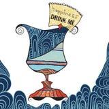 geluk Drink me vector illustratie