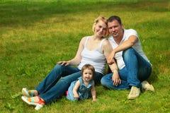 Geluk en harmonie in gezinsleven Gelukkig familieconcept Stock Foto's
