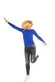Geluk en vrijheid die - springen Royalty-vrije Stock Foto's