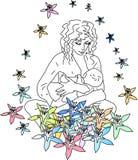 Geluk van moederschap Stock Foto's