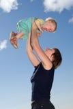 Geluk van motherhood Stock Foto's