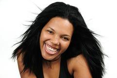 Gelukkig Afrikaans Spaans meisje royalty-vrije stock foto's