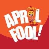 Gelukkig April Fools Day-ontwerp royalty-vrije stock foto