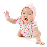 Gelukkig Aziatisch babymeisje Stock Afbeeldingen