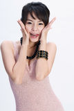 Gelukkig Aziatisch meisje Royalty-vrije Stock Foto