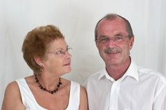 Gelukkig bejaard paar (3) Royalty-vrije Stock Afbeeldingen