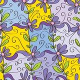 Gelukkig bloem vierkant naadloos patroon royalty-vrije illustratie