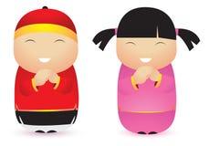 Gelukkig Chinees nieuw jaar royalty-vrije illustratie
