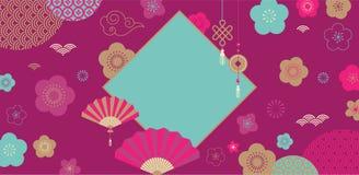 Gelukkig Chinees nieuw jaar 2019, het jaar van varken Vectorbanner, achtergrond royalty-vrije illustratie