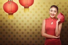 gelukkig Chinees nieuw jaarconcept Stock Fotografie