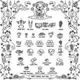 Gelukkig Chinees Nieuwjaar, God van Rijkdom vector illustratie
