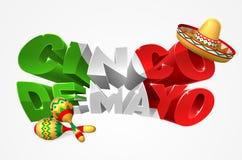 Gelukkig Cinco De Mayo Design vector illustratie