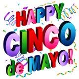 Gelukkig Cinco de Mayo Message Stock Fotografie