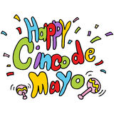 Gelukkig Cinco De Mayo-tekstbericht Stock Foto's