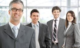 Gelukkig commercieel team royalty-vrije stock fotografie