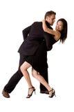 Gelukkig dansend paar Stock Afbeelding