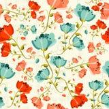 Gelukkig de bloempatroon van de de lentepapaver Stock Foto