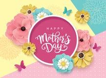 Gelukkig de groetontwerp van de Moeder` s Dag royalty-vrije illustratie