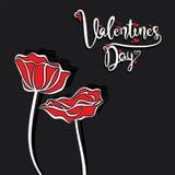 Gelukkig de groetontwerp van de valentijnskaart` s dag Stock Foto's