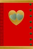 Gelukkig in de Harten van de Jade van de Liefde Stock Afbeelding
