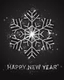Gelukkig de Kaartmalplaatje van de Nieuwjaar Vectorgroet Royalty-vrije Stock Foto's