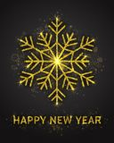 Gelukkig de Kaartmalplaatje van de Nieuwjaar Vectorgroet Royalty-vrije Stock Foto