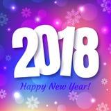 Gelukkig de kaartontwerp van de Nieuwjaar 2018 Groet royalty-vrije illustratie
