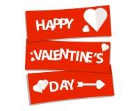 Gelukkig de nadrukrood van de valentijnskaarten` s dag Stock Foto