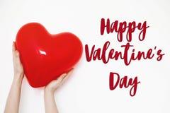 Gelukkig de tekstteken van de valentijnskaart` s dag gelukkig valentijnskaartenconcept Rood H Royalty-vrije Stock Foto