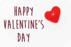 Gelukkig de tekstteken van de valentijnskaart` s dag gelukkig valentijnskaartenconcept Rood H Royalty-vrije Stock Foto's