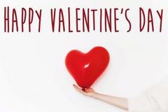 Gelukkig de tekstteken van de valentijnskaart` s dag gelukkig valentijnskaartenconcept Rood H Royalty-vrije Stock Afbeeldingen