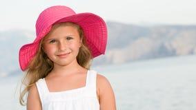 Gelukkig de zomermeisje Royalty-vrije Stock Afbeeldingen