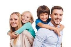 Gelukkig een familie te zijn Stock Fotografie