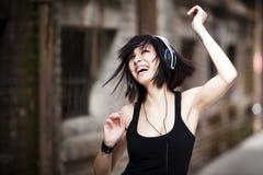 Gelukkig en dansend Stock Afbeelding