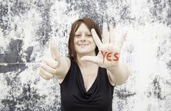 Gelukkig en positief meisje Royalty-vrije Stock Foto